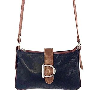 Borse In Pella Woman 2 Tone Leather Cross Body Bag
